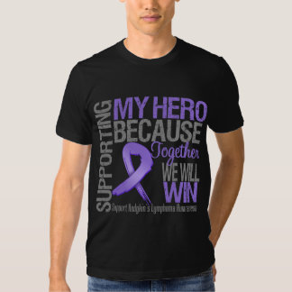 Supporting My Hero - Hodgkins Lymphoma Awareness Shirt