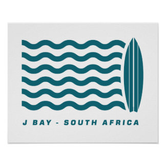 Surf Jeffreys Bay South Africa Poster