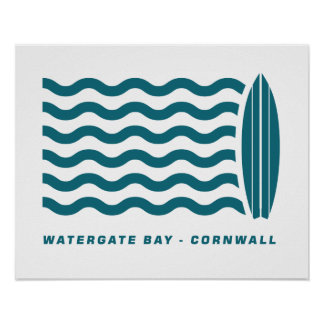 Surf Watergate Bay in Cornwall Poster