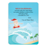 Surfing Santa Christmas Card 13 Cm X 18 Cm Invitation Card
