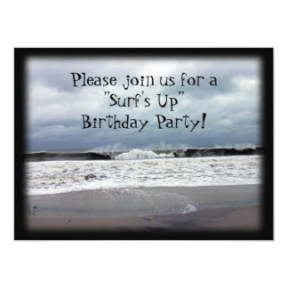 """Surf's Up"" Birthday Party 17 Cm X 22 Cm Invitation Card"