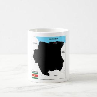 suriname country political map flag basic white mug