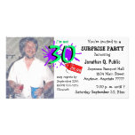 Surprise 30th Birthday Party Photo Invitation Photo Cards