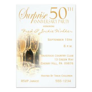 Surprise 50th Anniversary Party Invitations