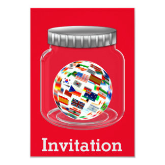 Surprise Party Invitation Red Global