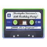 Surprise Party Retro 80s Cassette Tape 13 Cm X 18 Cm Invitation Card