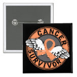 Survivor 14 Endometrial Cancer 15 Cm Square Badge