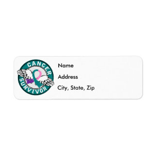 Survivor 14 Thyroid Cancer Return Address Label