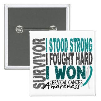 Survivor 4 Cervical Cancer 15 Cm Square Badge