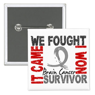 Survivor 5 Brain Cancer 15 Cm Square Badge