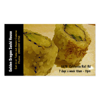 Sushi Restaurant California Rolls Pack Of Standard Business Cards
