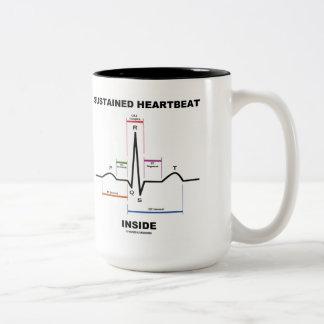 Sustained Heartbeat Inside (Electrocardiogram) Two-Tone Mug