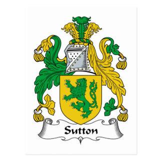 Sutton Family Crest Postcard