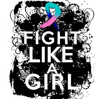 Thyroid Cancer Grunge Fight Like a Girl