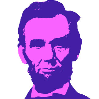 ➢ Abraham Lincoln in Pink & Purple