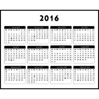 2016 Calendar jGibney The MUSEUM Zazzle Gifts