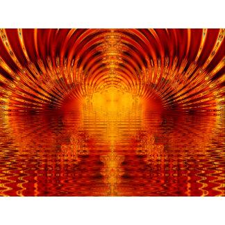 Golden Red Tunnel of Light