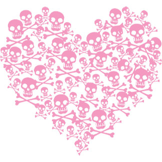 Pink Punk Skull Heart T-shirts and Gifts