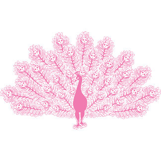 Evil Pink Peacock T-shirts and Gifts