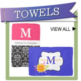 Monogram Wedding Kitchen Towels
