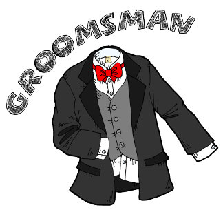 Tuxedo Groomsman T-shirts and Personalized Gifts