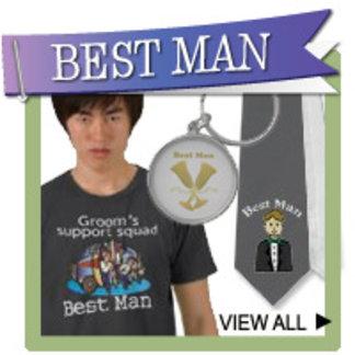 Best Man T-shirts, Ties, Mugs, Ornaments, Gifts