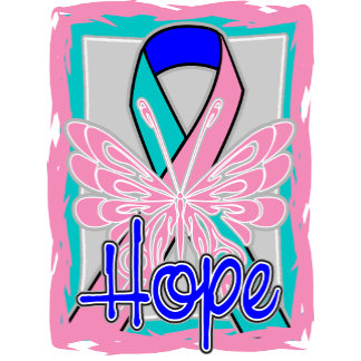 Thyroid Cancer Hope Butterfly Portrait