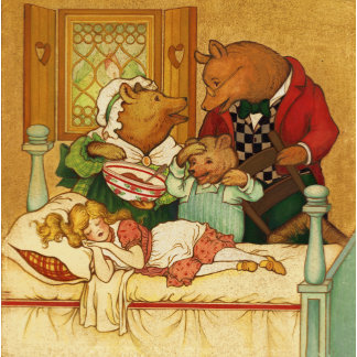 """Goldilocks & Three Bears Poster Print"""