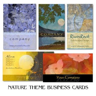 NATURE Theme Business Cards (Large Selection!)