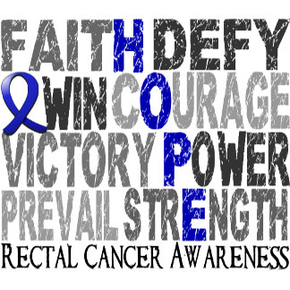 Hope Word Collage Rectal Cancer