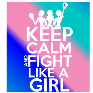 Thyroid Cancer Keep Calm Fight Like a Girl