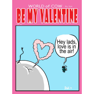 World of Cow Valentines Day Cards