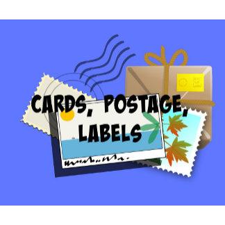 CARDS, Envelopes, Postage, Labels