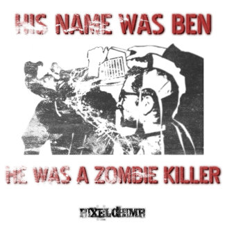 Graphic Stencil Zombie Killer