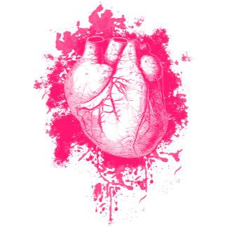 Pink Heart Splatter