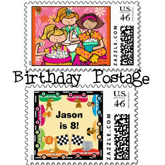 Birthday Custom Postage Stamps