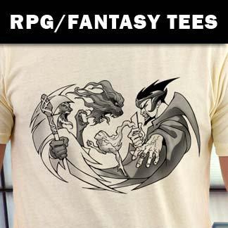 RPG Gamer and Fantasy Art Shirts