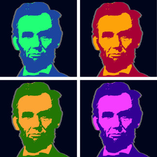 ➢ Four Pop Art Abraham Lincolns