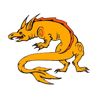 Orange Crawling Dragon