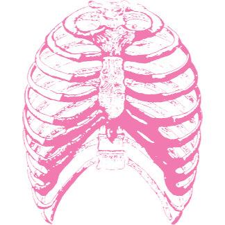 Pink Rib Cage T-shirts