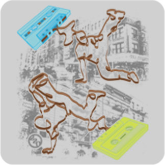 B-boy Cassette Battle (Gray)