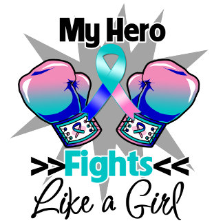Fights Like a Girl Thyroid Cancer Boxing Gloves