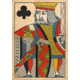 """King of Clubs Card Poster Print"""
