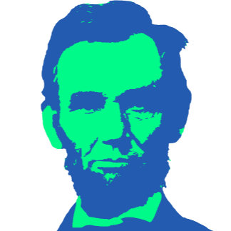 ➢ Abraham Lincoln in Green & Blue