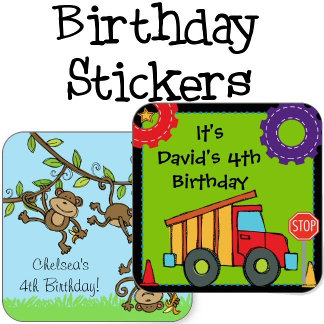 Birthday Custom Stickers
