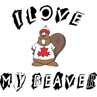 I Love My Canadian Beaver T-Shirt Gift Cards