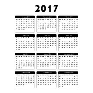 2017 Calendar jGibney The MUSEUM Zazzle