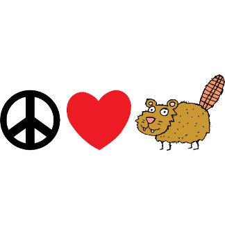 Peace Love Canadian Beaver T-Shirt
