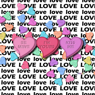 Candy Hearts of Love