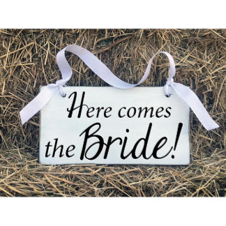 Here Comes the Bride... Wooden Wedding Sign